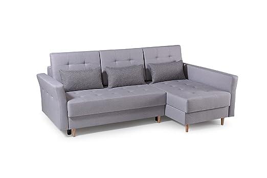 MEUBLO sofá de Esquina Convertibles 3 Plazas Tela Estilo ...