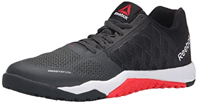 Reebok Women's Ros Workout TR Training Shoe, BlackGravelNeon Cherry, 5