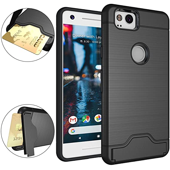 best loved 41548 60fa1 Google Pixel 2 Case, OUBA [Card Slot] [Kickstand] Dual Layer Shock  Absorbent Armor Hybrid Defender Shockproof Rugged Protective Cover case for  Google ...