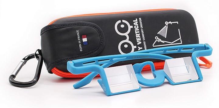 YY Vertical - Gafas con prisma para hacer segura al compañero de escalada Plasfun Evo - Azul