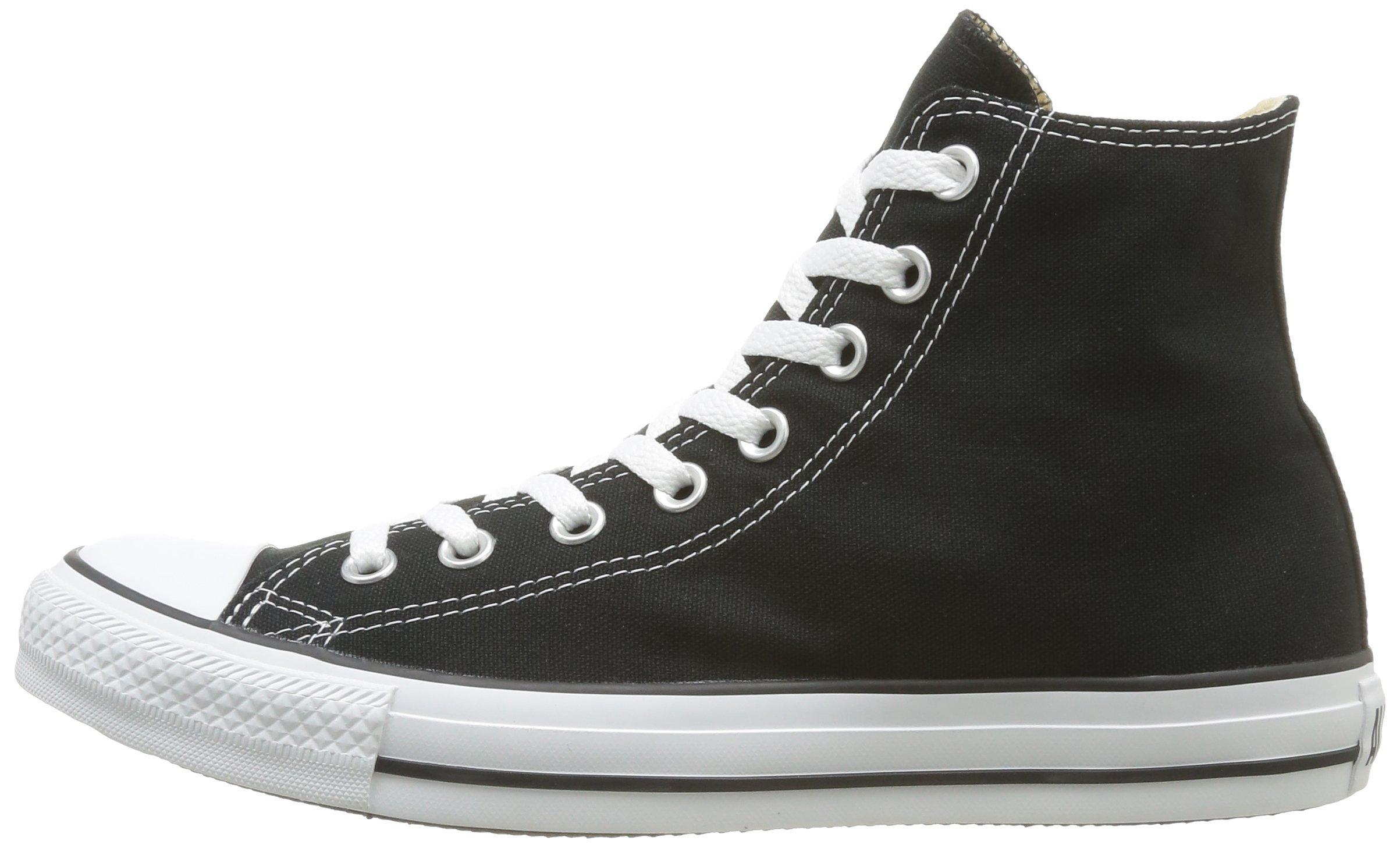 Converse Chuck Taylor All Star Canvas High Top Sneaker Black/White 8 M US Women / 6 M US Men