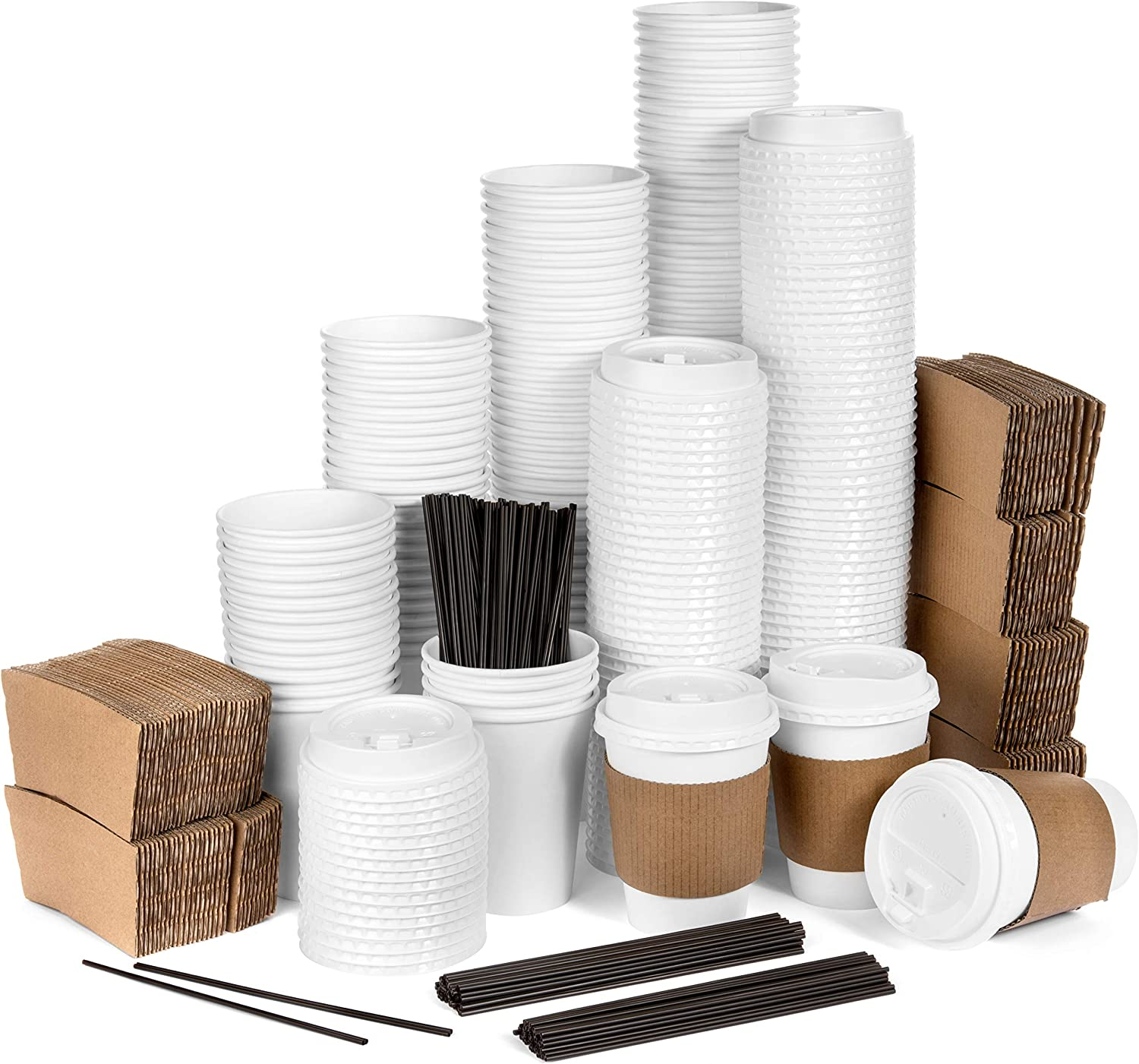 Average Joe Disposable Coffee Cups with Lids - 120 Pack