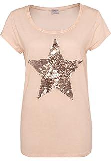 279ea9a8ffaa63 Stitch   Soul Damen T-Shirt mit Erdbeer-Print   Pailletten