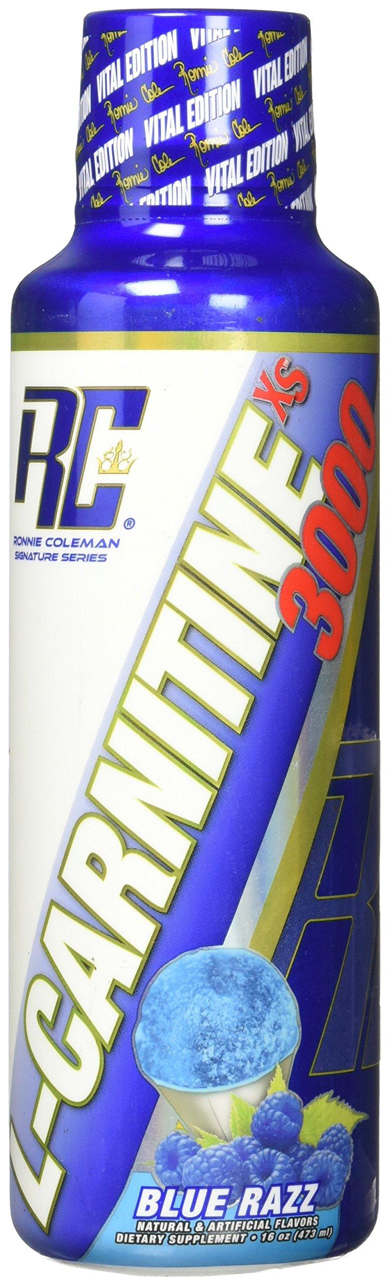 Ronnie Coleman Signature Series L-Carnitine XS Dietary Supplement, Blue Raspberry, 16 Fluid Ounce