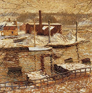 Amazon.com: The Museum Outlet - River Scene in Winter, 1899 ...