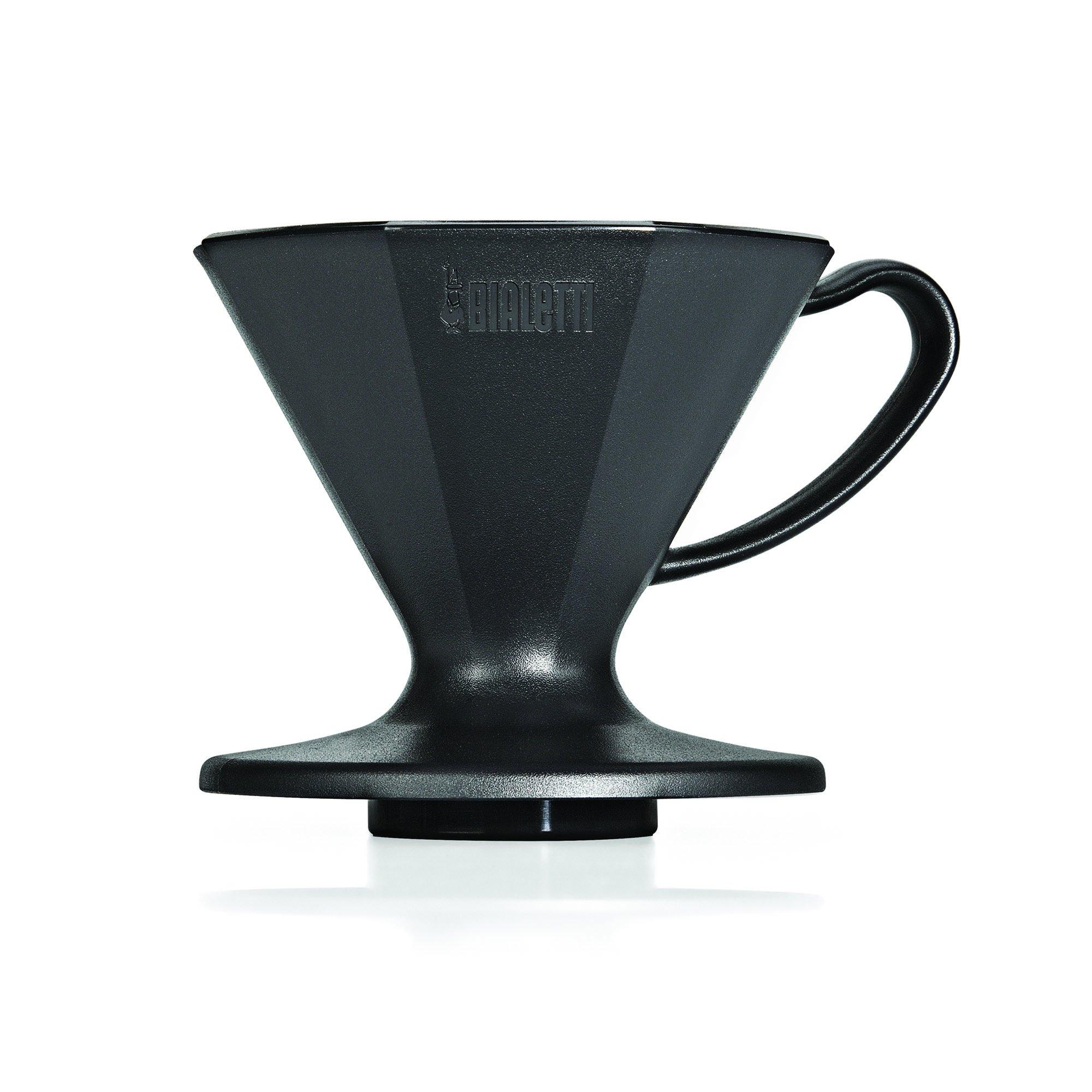 Bialetti 6751 2 Cup Plastic Pourover Coffee Dripper, Black