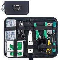 MIAOKE netwerkgereedschapset, netwerkreparatietools met draadstrippers, professionele netwerkkabeltester kit voor…