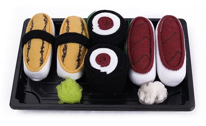 Sushi caja de calcetines - 3 Pares - Tamago, Maki Tuna, Tuna tamaño UK 3 - 6, EUR 36 - 40: Amazon.es: Ropa y accesorios