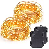 Amazon Price History for:Kohree 2 Pack 120 Micro LEDs Christmas string Light Battery Powered on 40ft Long Ultra Thin String Copper Wire, Decor Rope Light with Timer Perfect for Weddings, Party, Xmas-2C Batteries powered