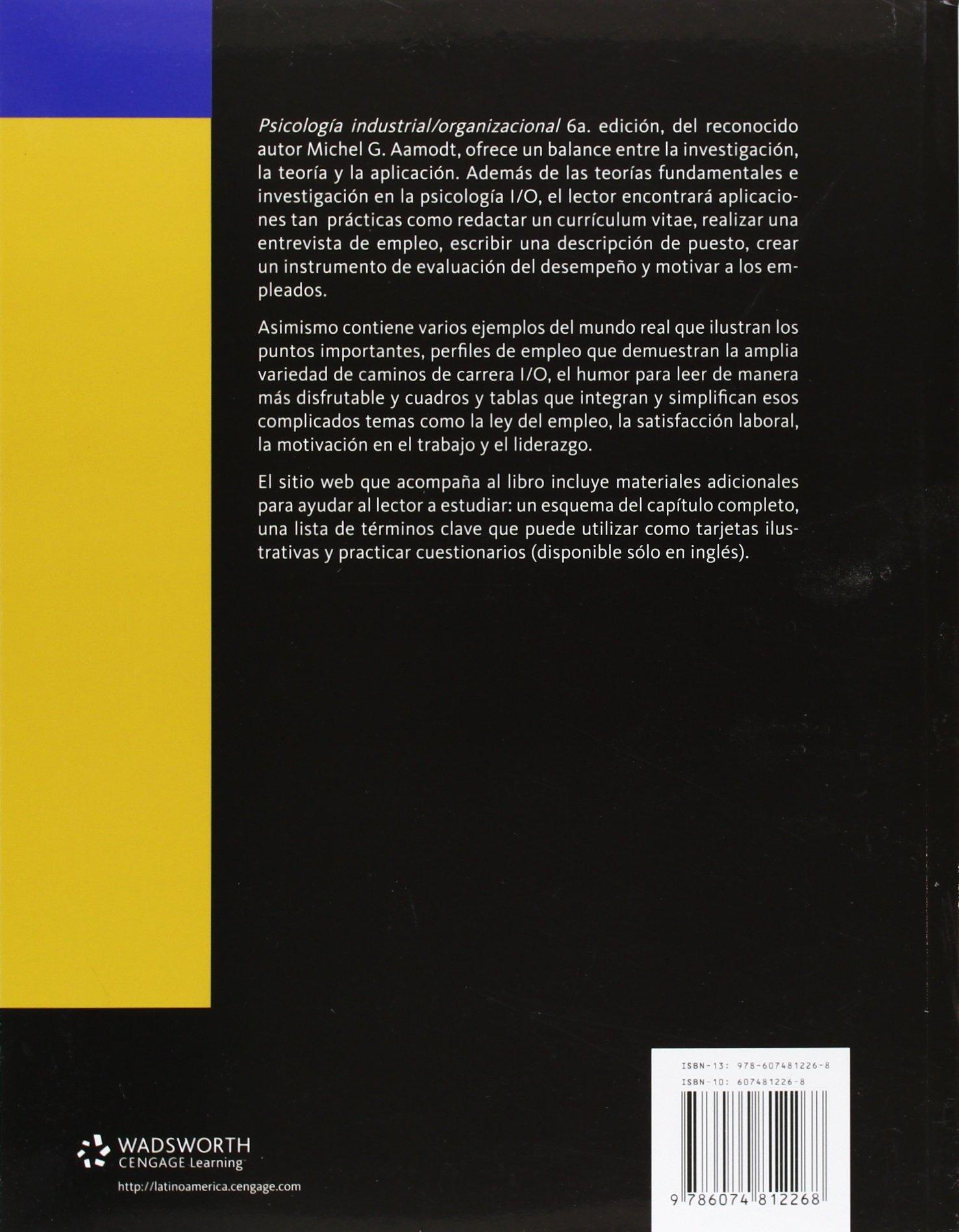 Psicologia Industrial/Organizacional: Aamodt: 9786074812268 ...