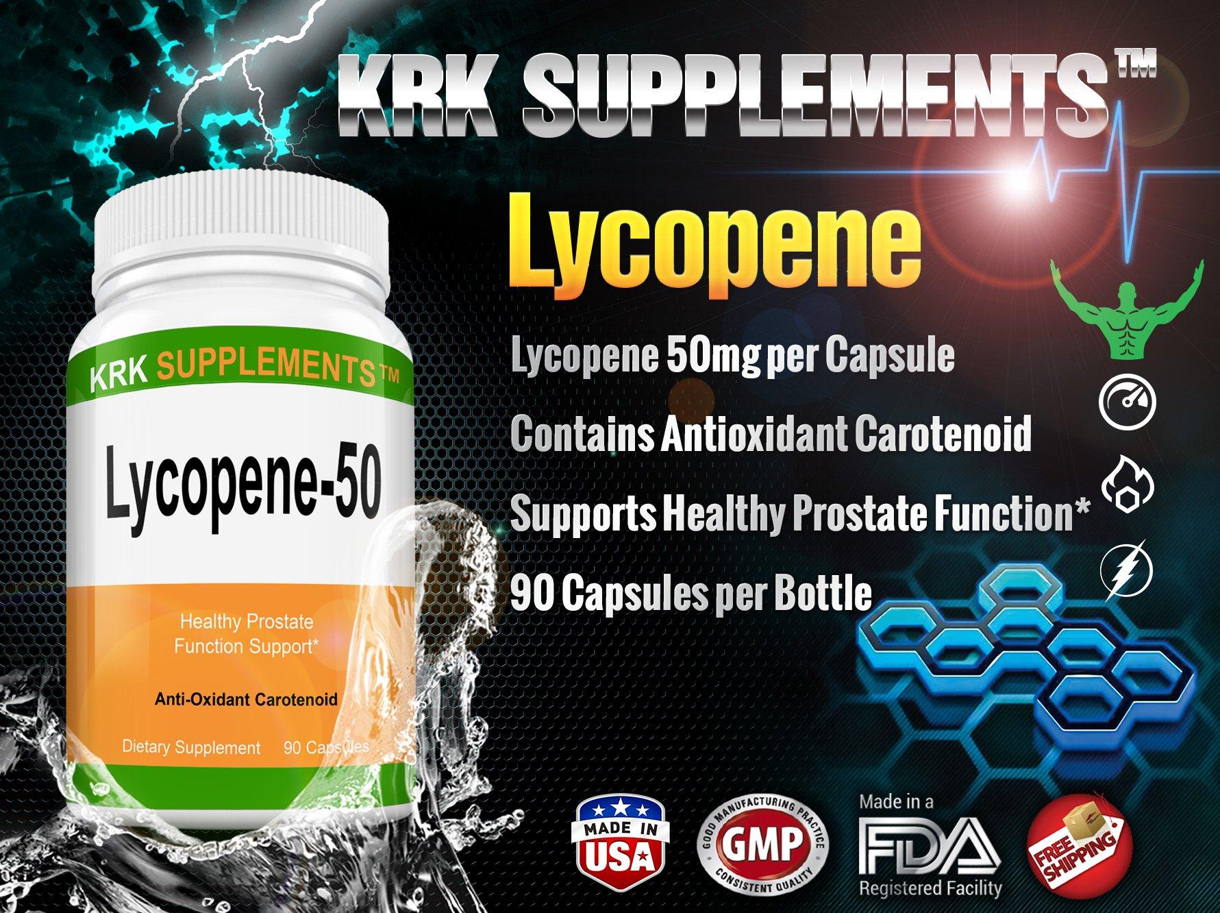 2 Bottles Lycopene 50mg 180 Total Capsules KRK Supplements by KRK SUPPLEMENTS (Image #3)