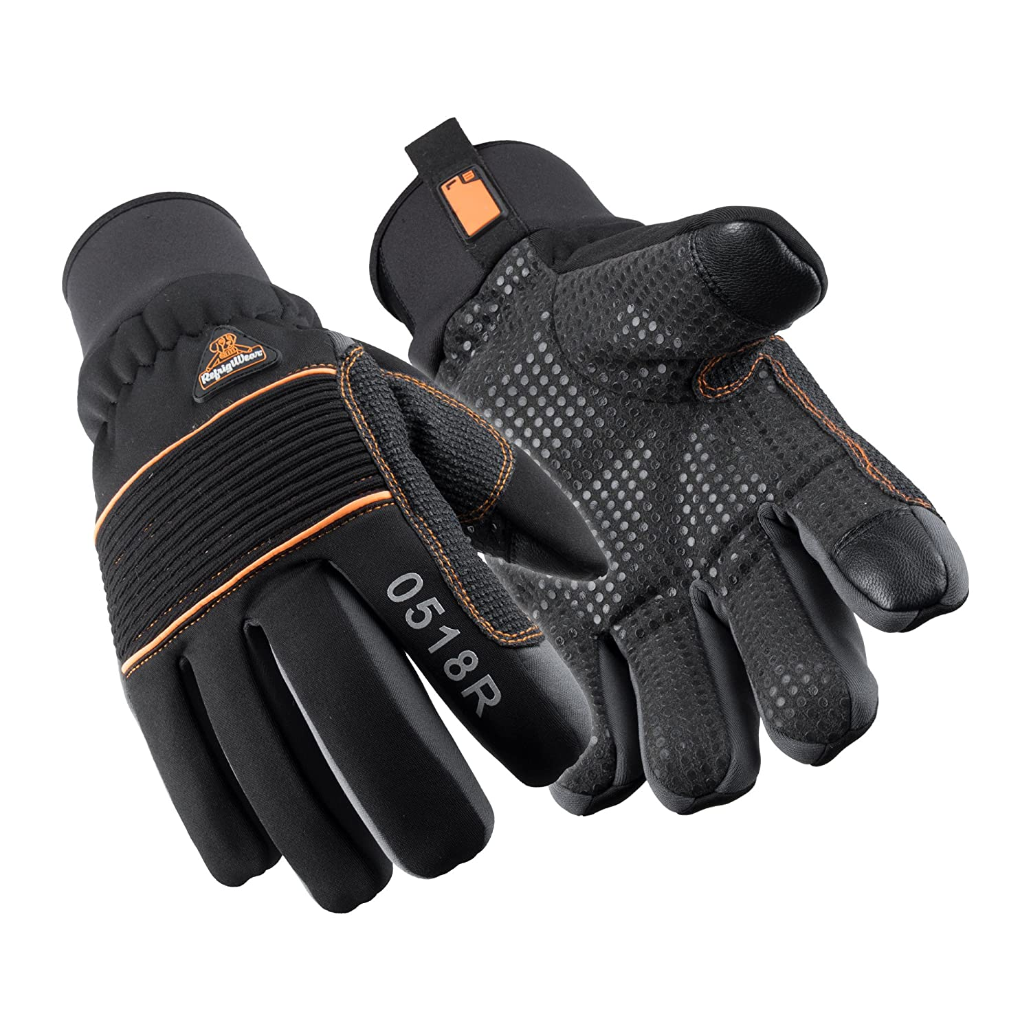 RefrigiWear Thinsulate Insulated PolarForce Gloves with Grip Assist and Performance Flex, Black 518