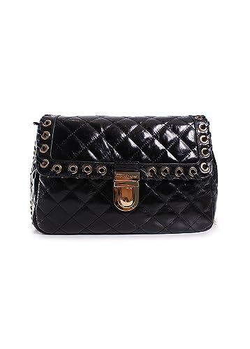 3bda06cd7daf Michael Kors Hippie Grommet Sloan Large Quilted Shoulder Bag in Black:  Handbags: Amazon.com