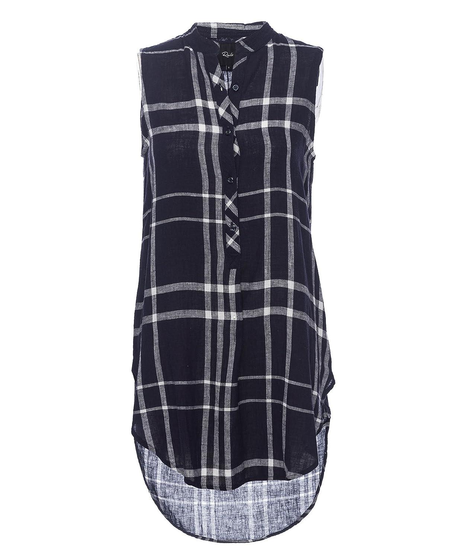 Rails Jules Linen Stripe Dress, Navy and White