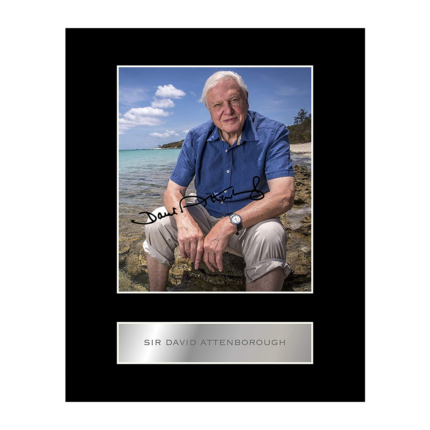 Sir David Attenborough Signed Mounted Photo Display Autographed Gift Picture Print Iconic pics