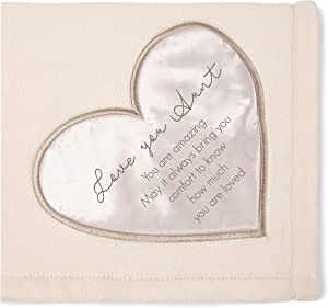 Pavilion Gift Company 19505 Comfort Love You Aunt Thick Warm 320 GSM Royal Plush Throw Blanket