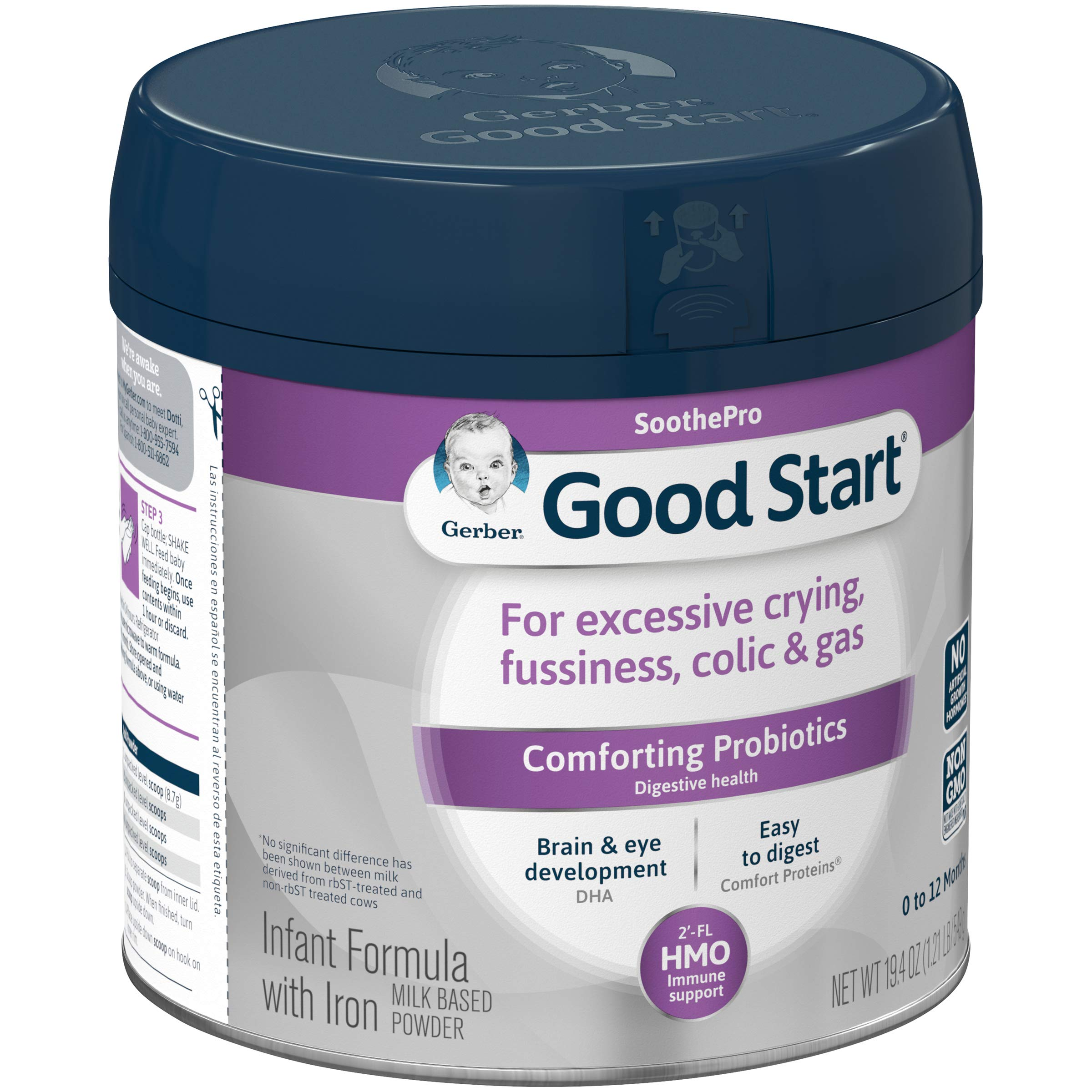 Gerber Good Start Infant Formula Soothe (HMO) Non-Gmo Powder Infant Formula, Stage 1, 19.4 Ounce, 6 Count by Good Start (Image #4)