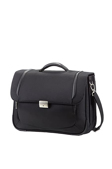 "9 opinioni per Samsonite Cartella X'blade Business 2.0 Briefcase 3 Gussets 16"" 18 liters Nero"