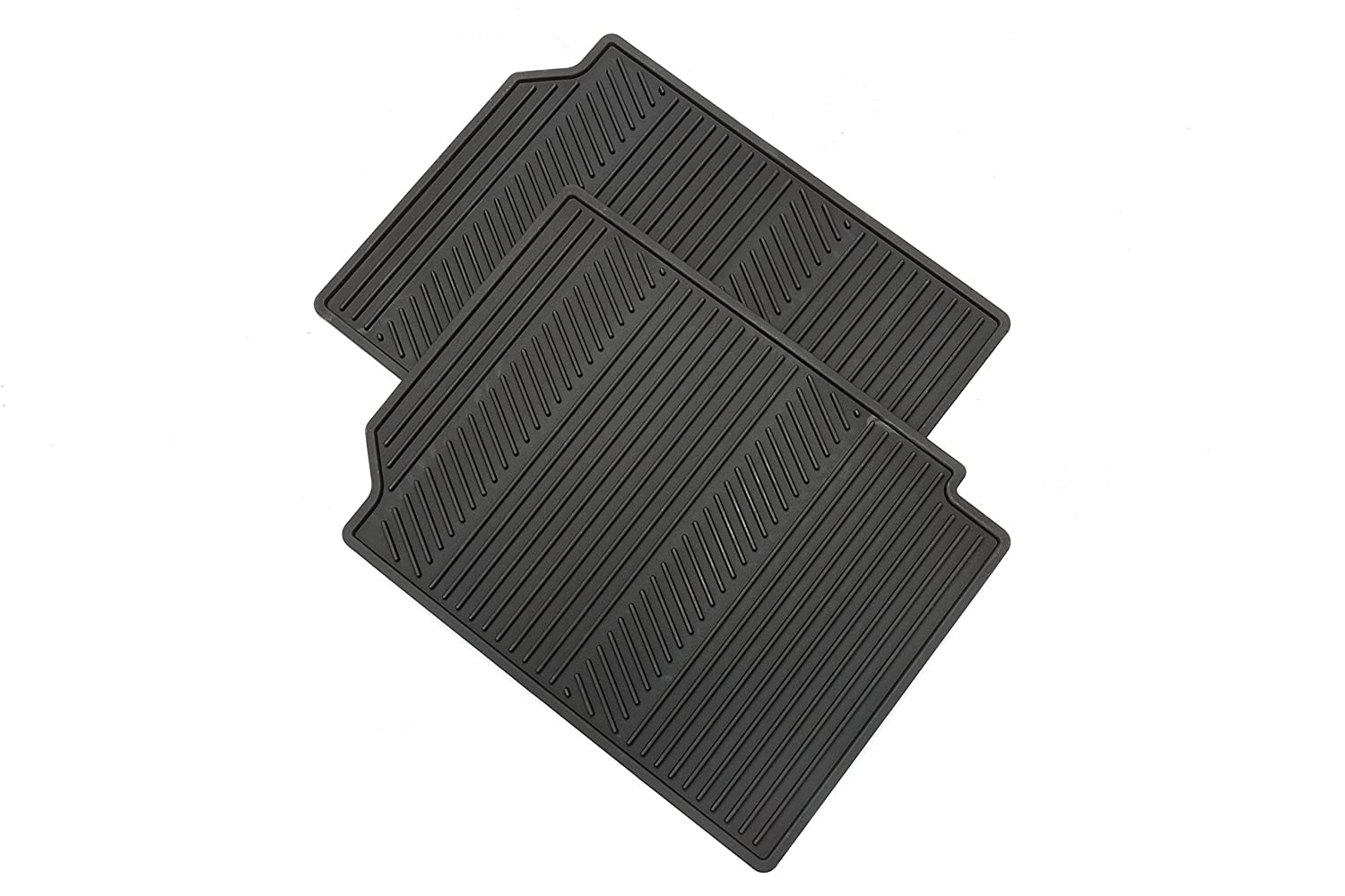 Rubber floor mats gmc terrain - Amazon Com Gm Accessories 22832328 Front All Weather Floor Mats In Jet Black With Deep Rib And Gmc Logo Automotive