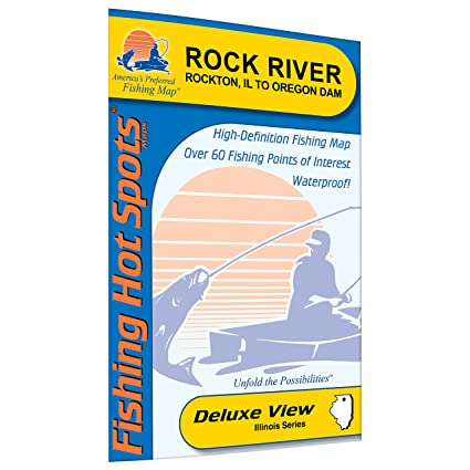 Amazon Com Rock River Rockton Fishing Map Il To Oregon Dam