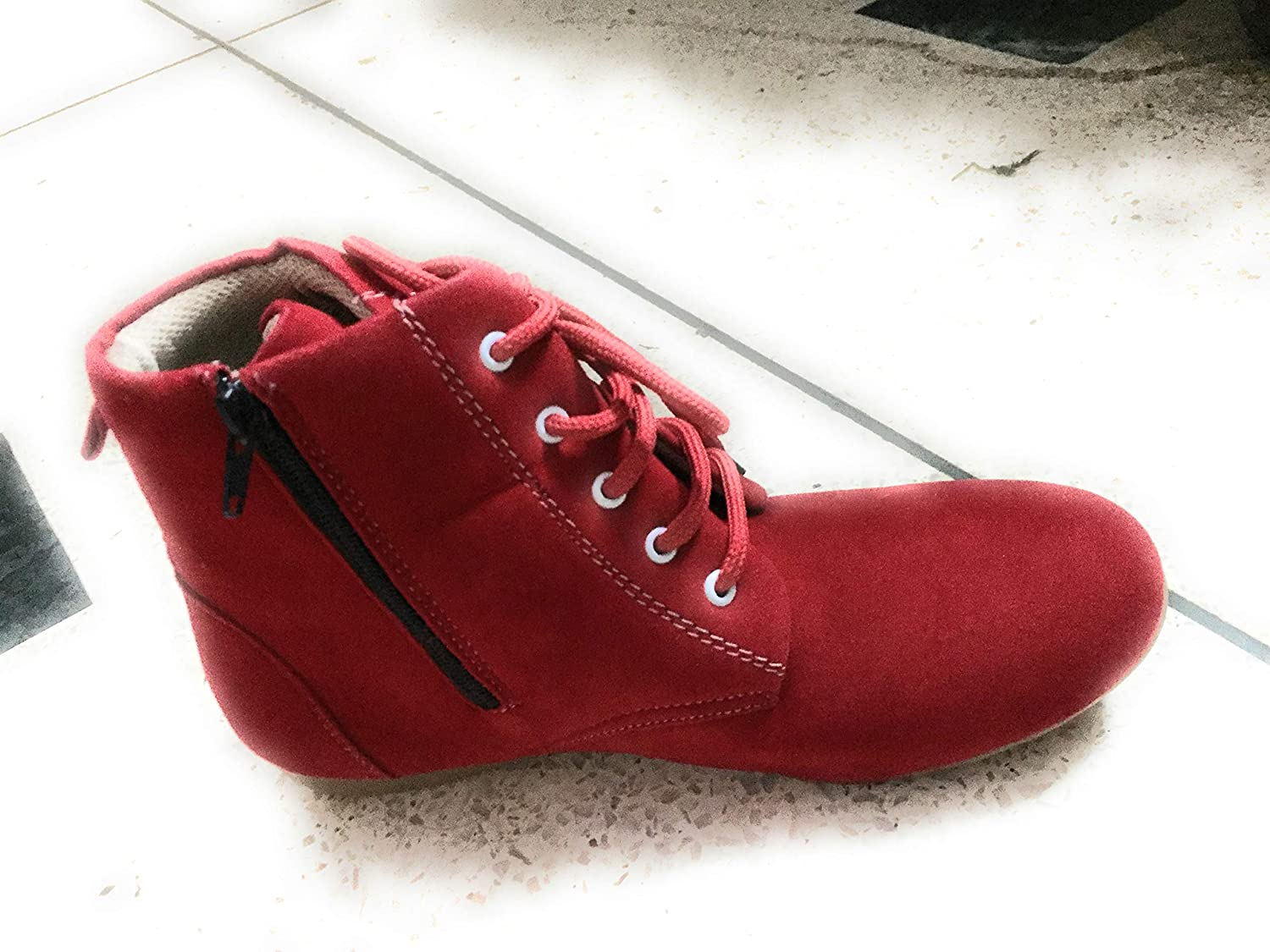 Geetaoverseres Girls Shoes Red Black
