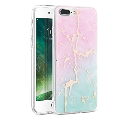 Amazon.com: huatrk iPhone 7 Plus azul Funda de diseño de ...