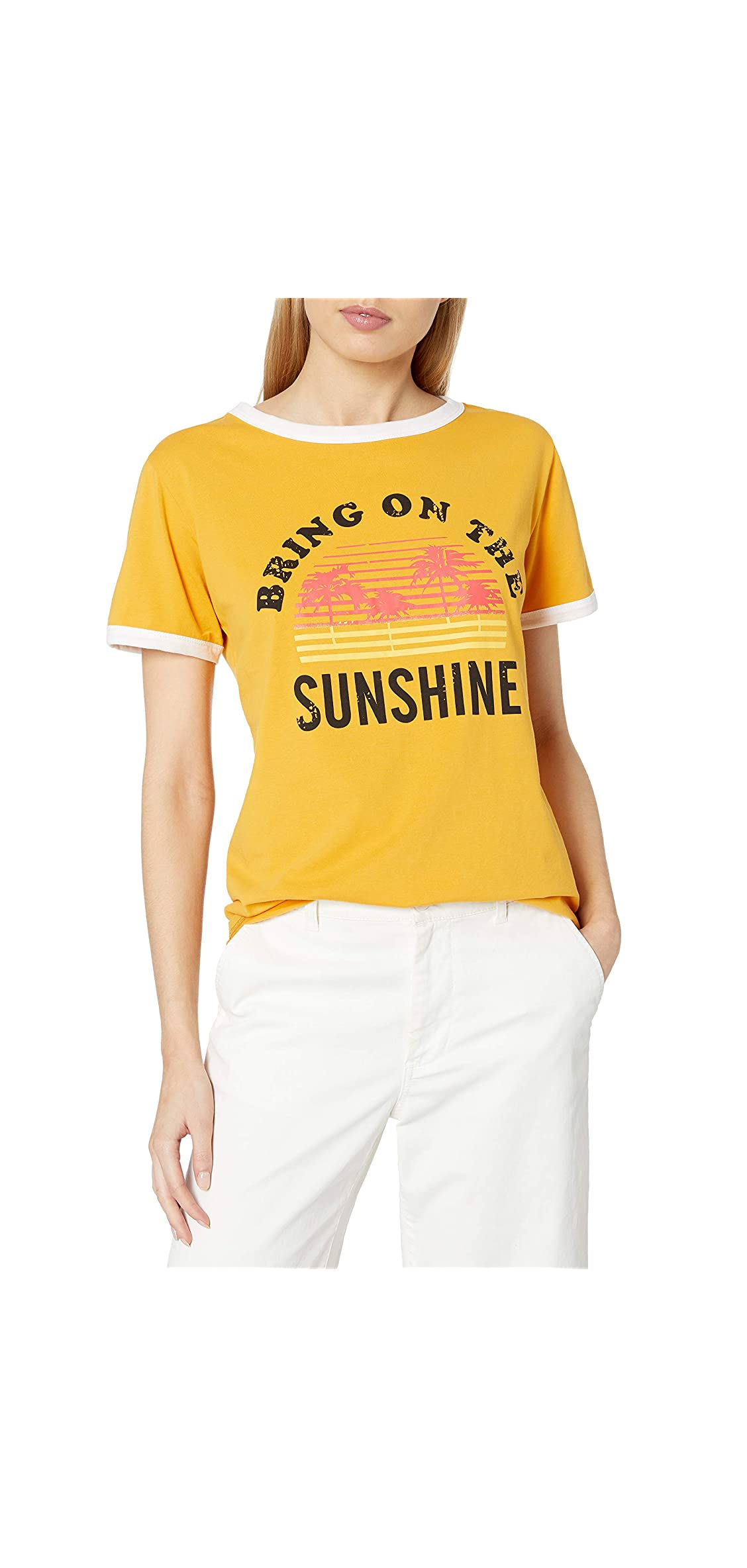 Bring On The Sunshine T-shirt Women's Letter Graphic Casual Tee