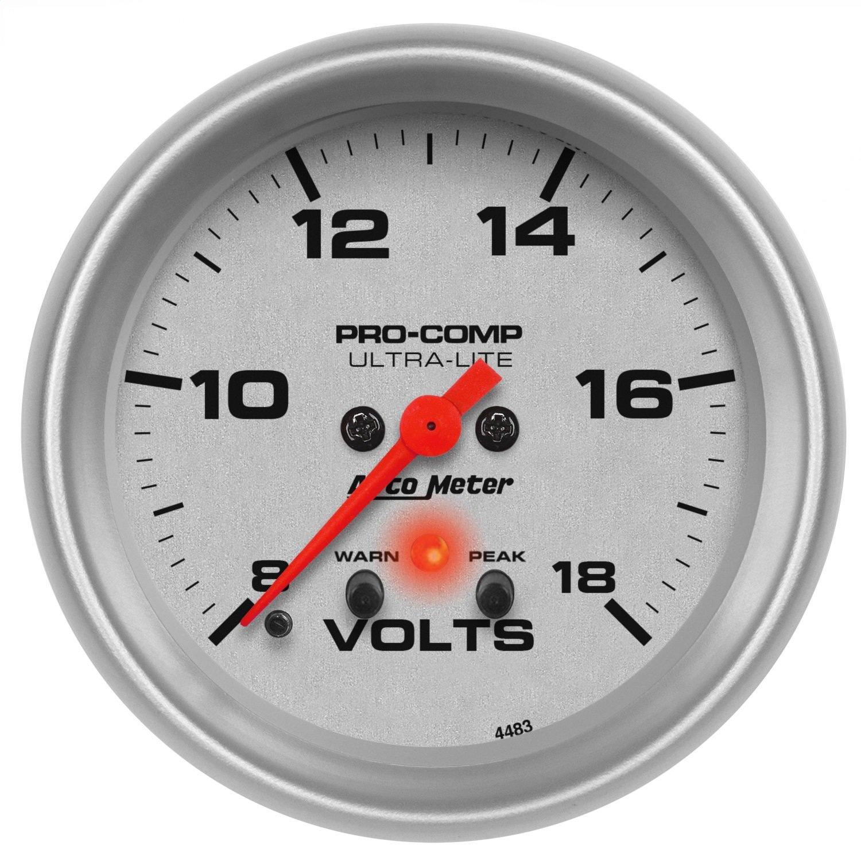 Auto Meter 4483 Ultra-Lite Electric Voltmeter Gauge