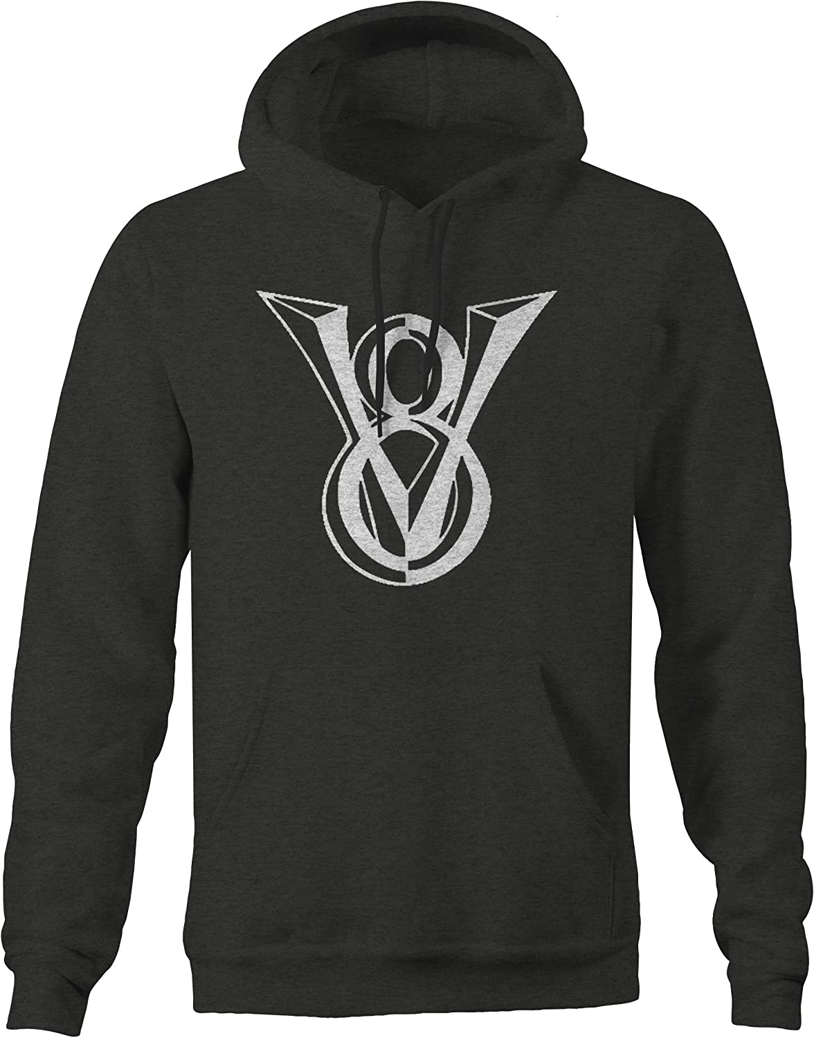 American Hotrod Classic V8 Muscle Car Truck Emblem Hoodie for Men