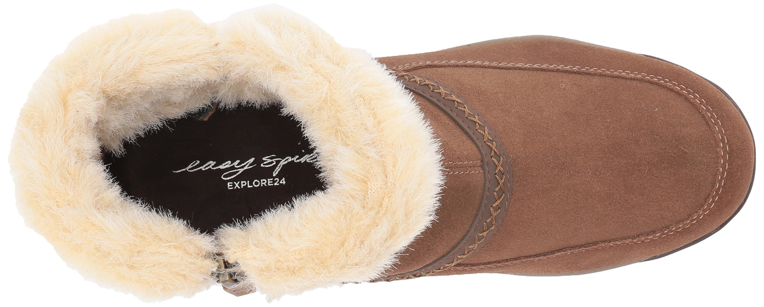 Easy Spirit Women's Icerink Ankle Bootie, Dark Natural Multi Suede, 6 W US by Easy Spirit (Image #8)