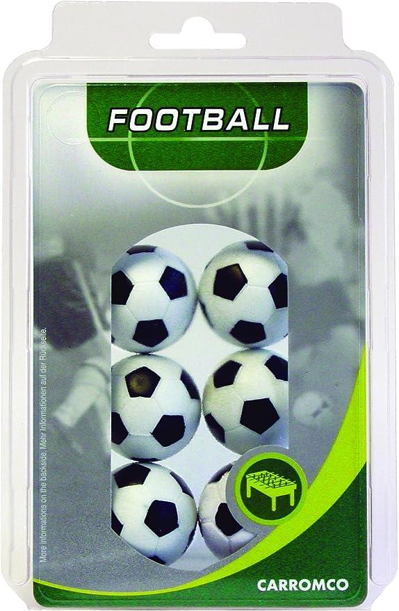 Carromco 62406 Pelotas de futbolin, Unisex, Multicolor (Blanco/Negro), 36 mm Conjunto de 6: Carromco Kickerbälle (6x schwarz-weiß): Amazon.es: Deportes y aire libre