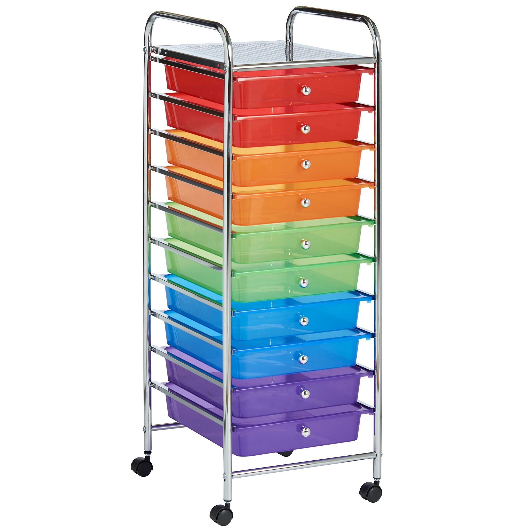 VonHaus 10 Drawer Multi-Coloured Mobile Storage Trolley for Home u0026 Office  sc 1 st  Amazon UK & Storage Drawers for Crafts: Amazon.co.uk