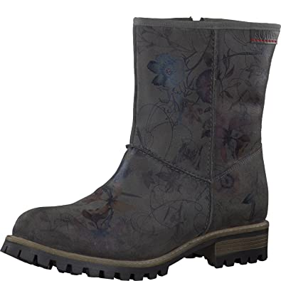 s.Oliver Damenschuhe 5-5-26491-27 Damen Stiefel, Boots, Stiefeletten Grau (Graphite Flowe), EU 39