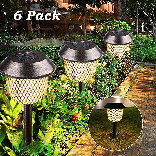 90 LED Lampade da Giardino Paletti solari LED Luce Bianco caldo Luci di palo