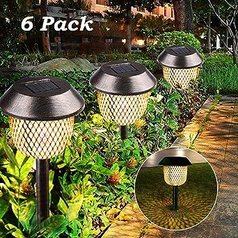 Lot de 6 lampes solaires de jardin, Tencoz lampes solaires de jardin ...