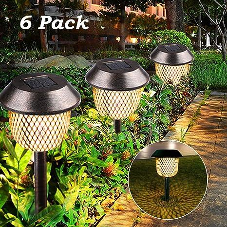 6 Stück Solarleuchte Garten, Tencoz Laternen für Draußen Solar  Gartenleuchte Außenleuchte IP44 Wasserdichte LED Solar Lampen für Außen  Terrasse Rasen ...