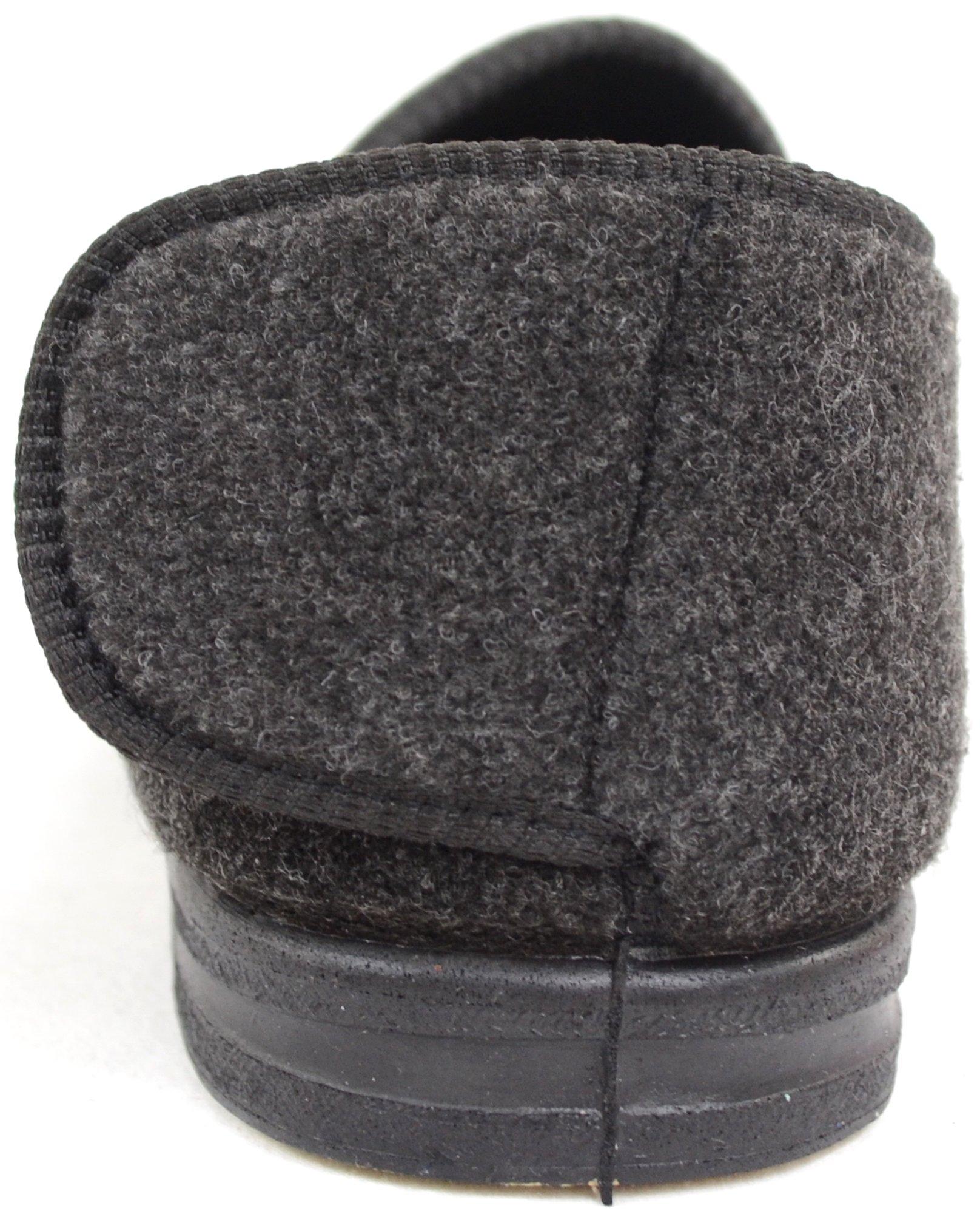 ABSOLUTE FOOTWEAR Mens Orthopaedic/Extra Wide Fit Adjustable Slipper Boot/Slippers - Grey - 10 US by ABSOLUTE FOOTWEAR (Image #3)