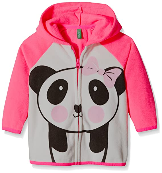 United Colors of Benetton Fleece Zip Hoodie Panda, Sudadera para Niñas, Rosa, 12-18 Meses: Amazon.es: Ropa y accesorios
