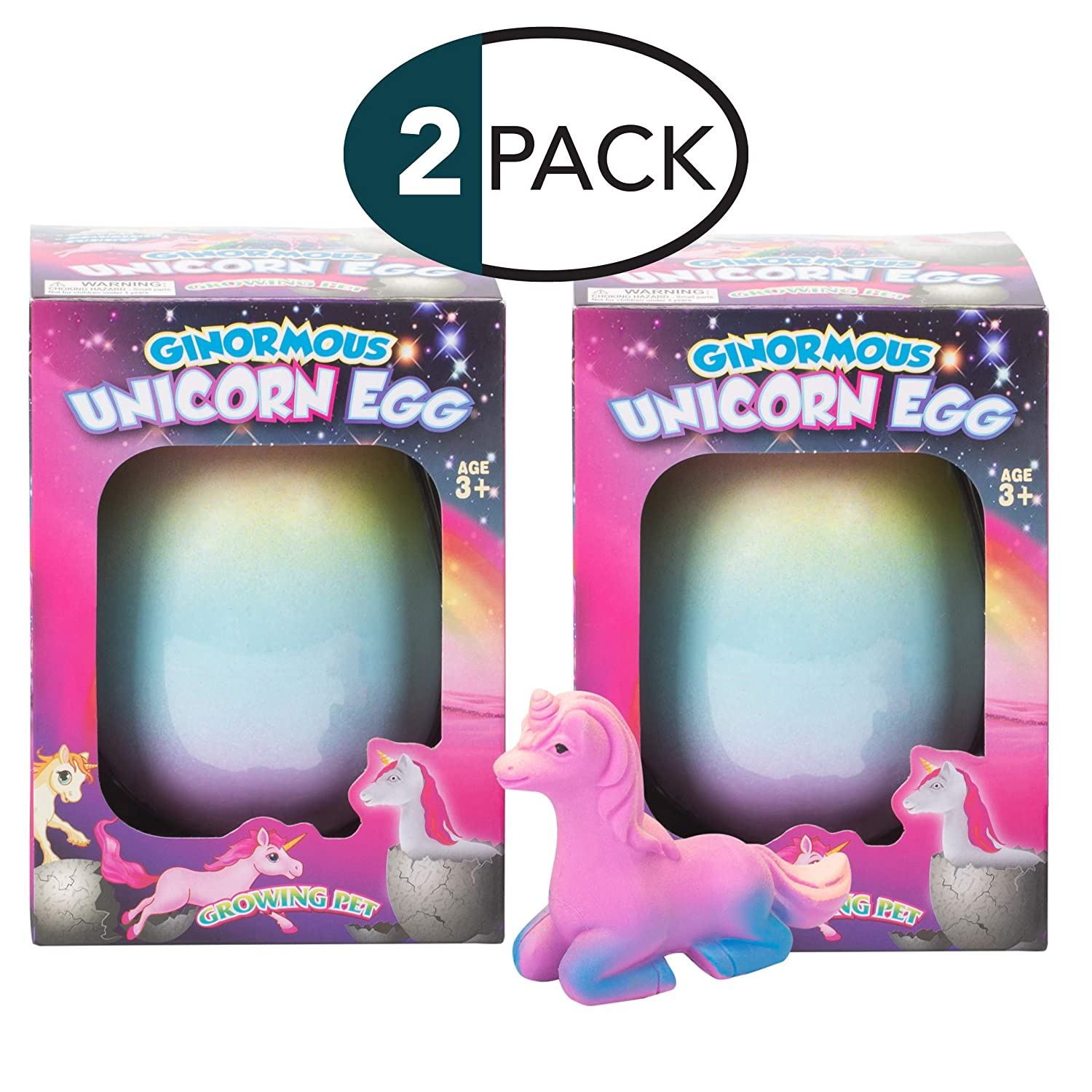 Pack of 4 Class Collections Small Growing Unicorn Hatch Egg with Rainbow Shell Kids Novelty Toy