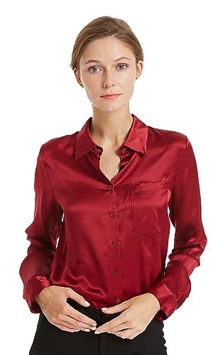 Lilysilk Camisa Mujer Clásico 100% Seda de Mora DE 22 Momme Estilo de Oficina