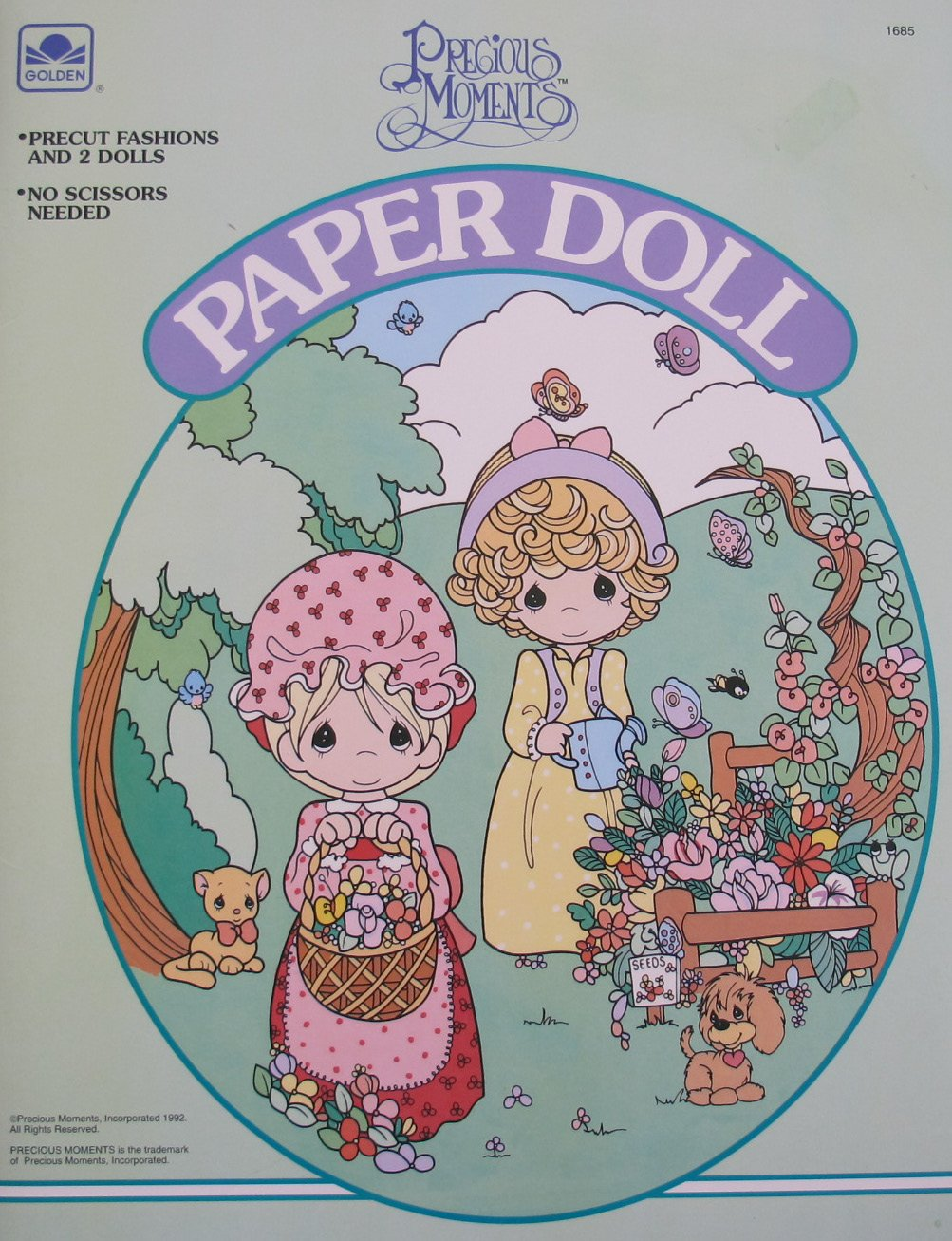 Golden PRECIOUS MOMENTS PAPER DOLL Book UNCUT w 2 Dolls, 5 Play Pieces & MORE! (1992) by Spider-Man (Image #1)