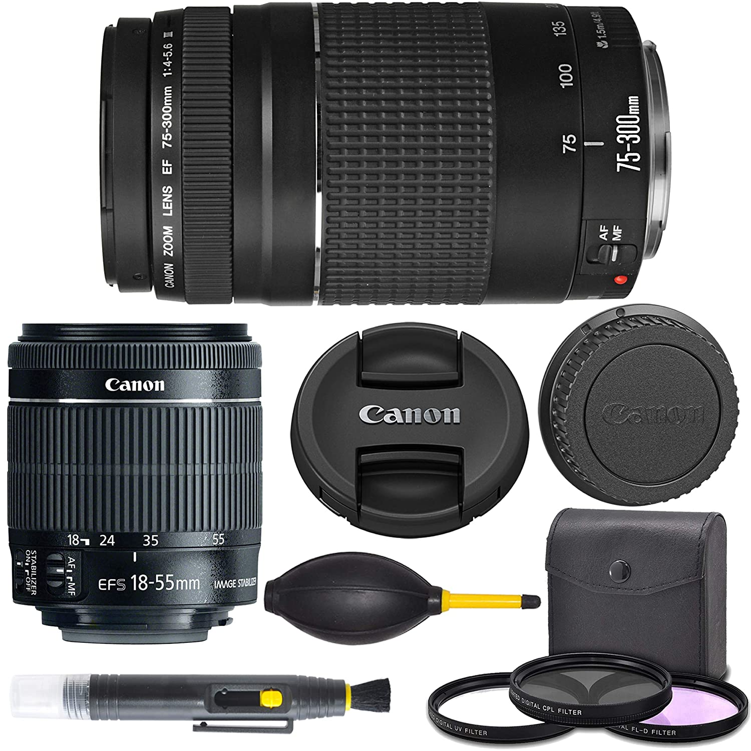 Canon EF-S 18-55mm f/3.5-5.6 I.S. STM (8114B002) + Canon EF 75 ...