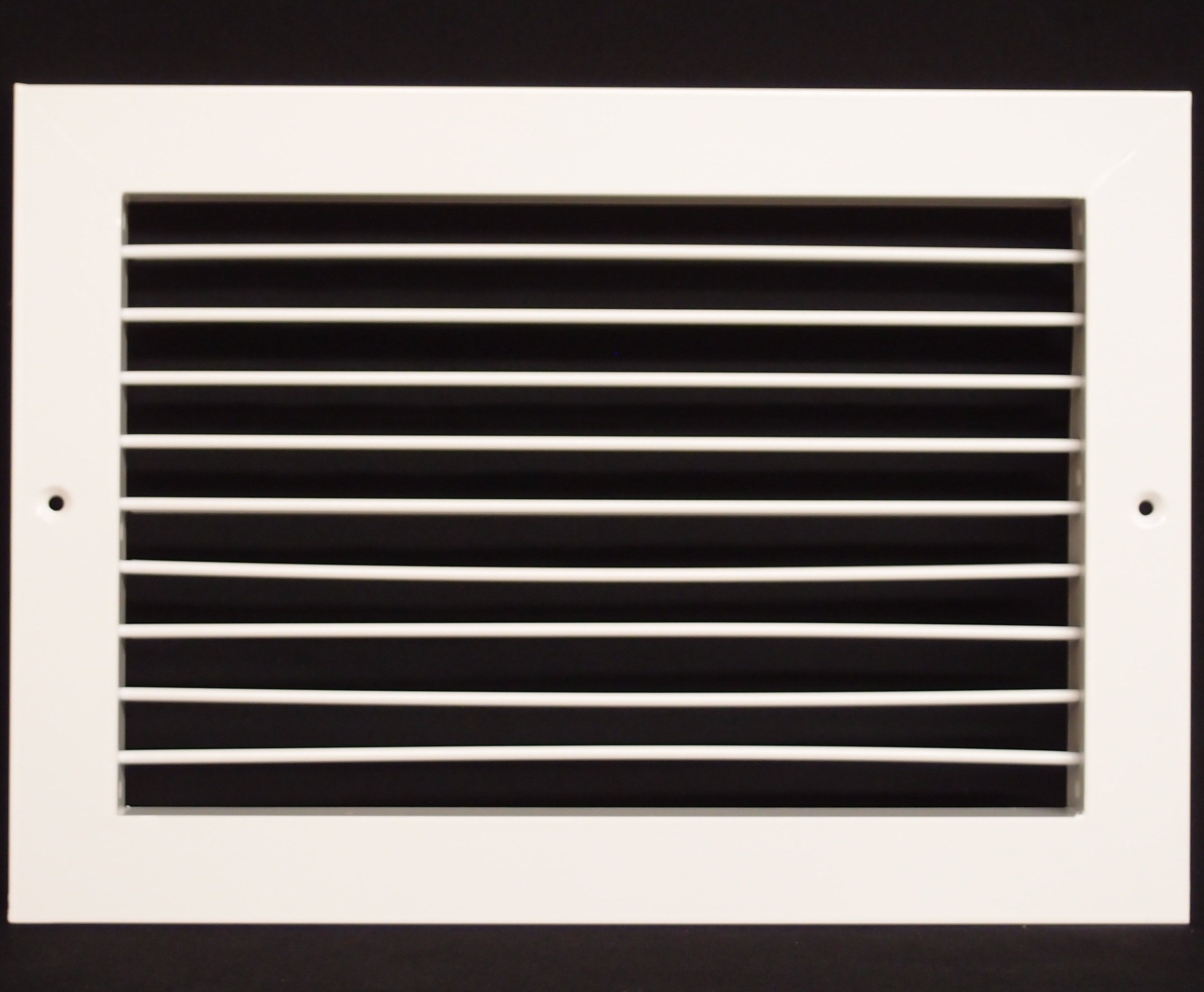 14''w X 10''h Aluminum Adjustable Return/Suuply HVAC Air Grille - Full Control Horizontal Airflow Direction - Vent Duct Cover - Single Deflection [Outer Dimensions: 15.85''w X 11.85''h]