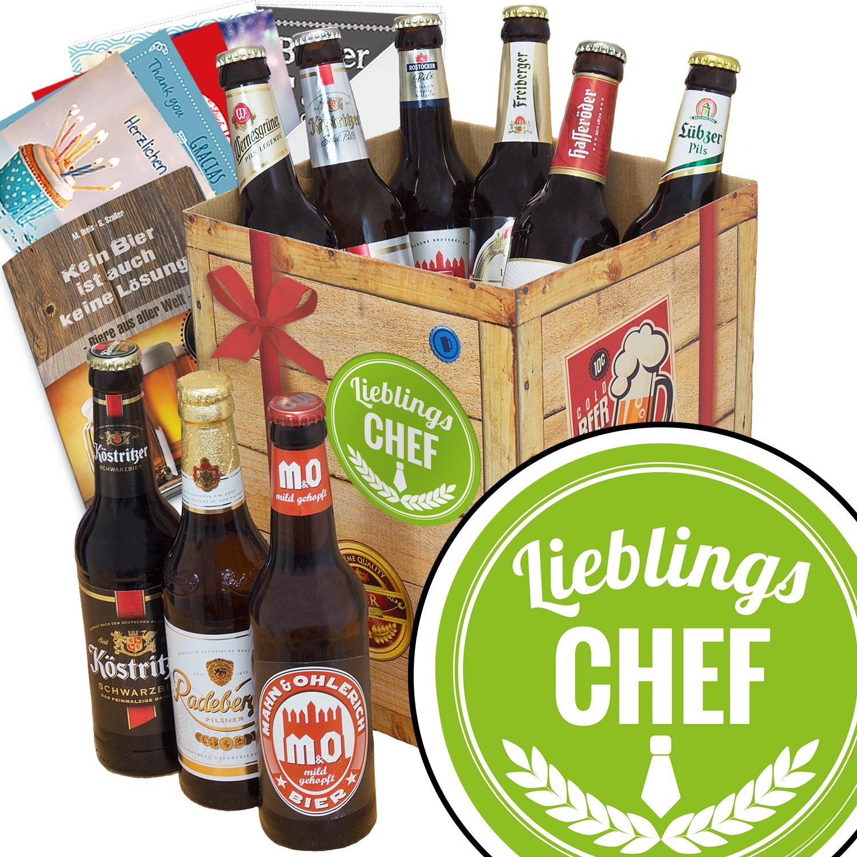 Geschenk Ideen Lieblings Chef - Bier Geschenk Box + Bier Buch + ...
