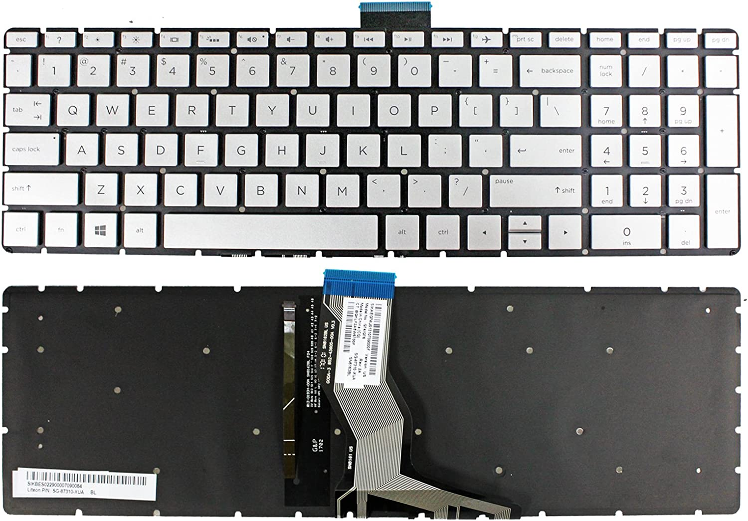 Zahara Laptop Keyboard with Backlight Replacement for HP 15-cc183cl 15-cc184cl 15-cc187cl 15-cc123cl 15-cc154cl HP15-cc565nr 15-cc566nr 5-cc158nr 15-cc159nr 15-cc010nr