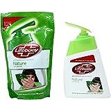 Lifebuoy Nature Hand Sanitiser with Pump - 185 ml