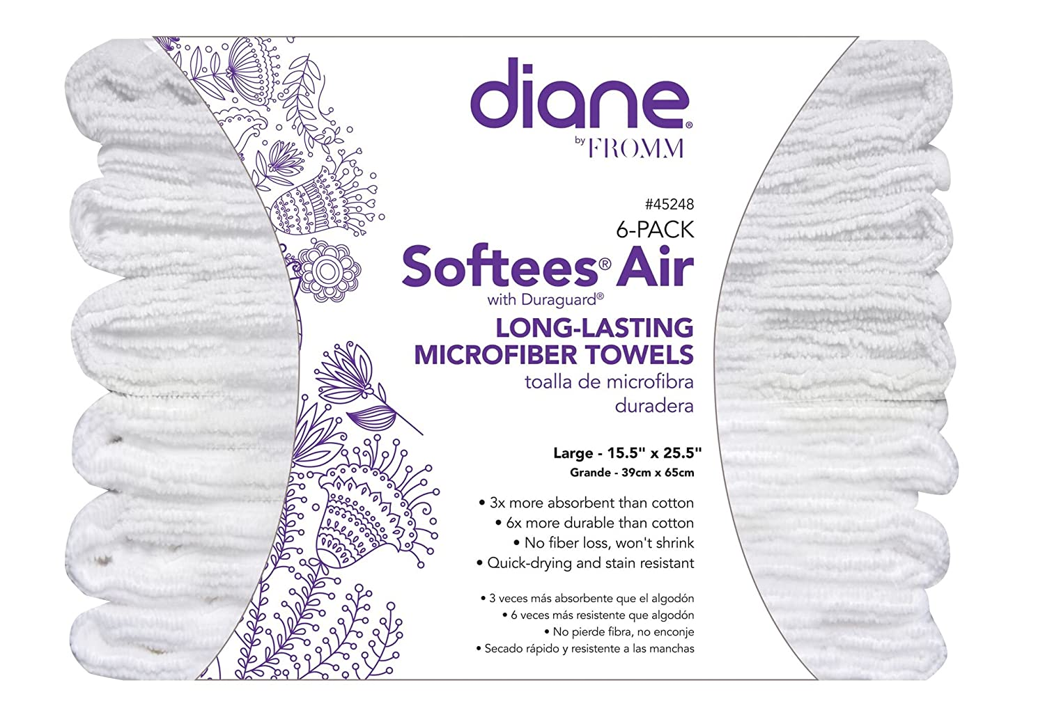 Amazon.com: Diane Softees Air Long-Lasting Microfiber Towels (6 Pack): Beauty