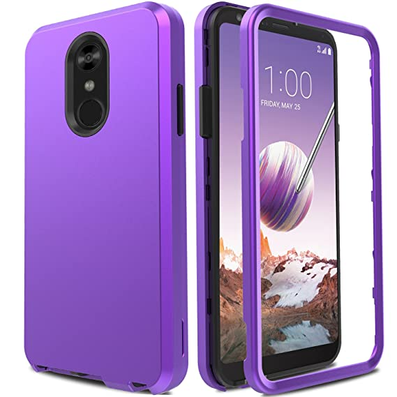 low priced 17b71 8776b LG Stylo 4 Case, LG Q Stylo Case, LG Stylo 4 Plus Case, AMENQ 3 in 1 Hybrid  Heavy Duty Shockproof with Rugged Hard PC and TPU Bumper Protective Armor  ...