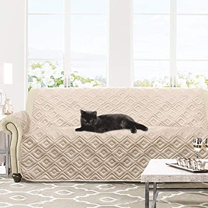 Exceptionnel DriftAway Marley 100% Waterproof Furniture Protector Quilted Sofa Cover For  3 Seats Cushion Couch,