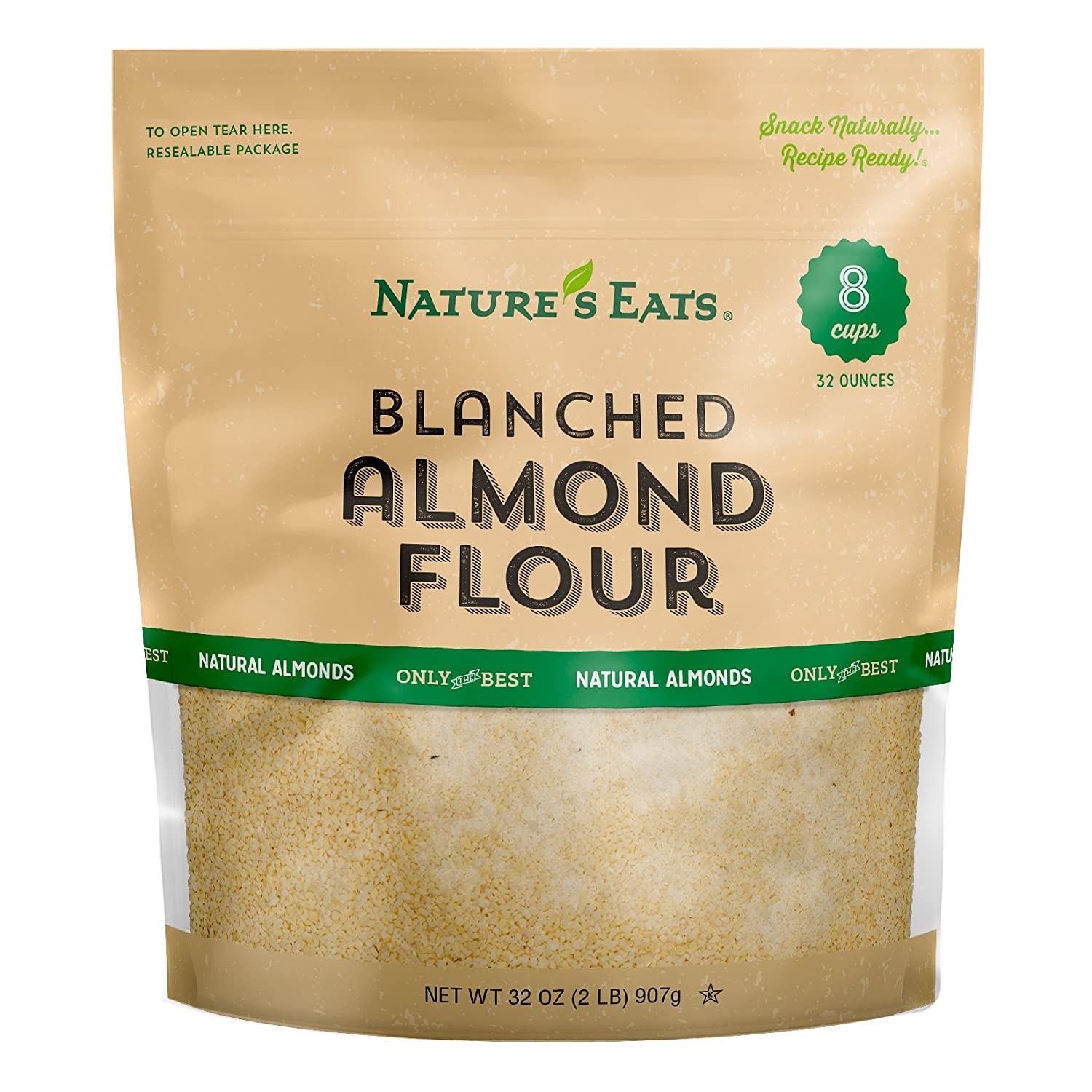 Amazon.com : Nature's Eats Blanched Almond Flour, 32 Ounce ...